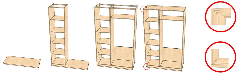 Как сделать фасады шкаф купе своими руками 64