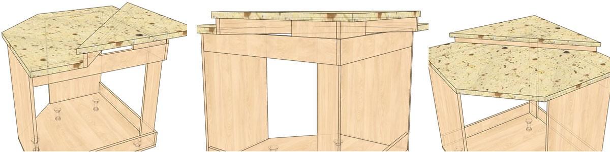 Как сделать угловой стол для кухни своими руками 88