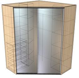 цельный угловой шкаф купе еще одна разновидность этой мебели
