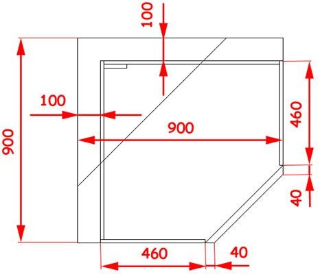 Угловой нижний кухонный короб 45 градусов: пошаговый алгорит.