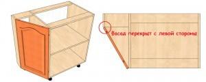 Как сделать угловой шкаф для кухни 334