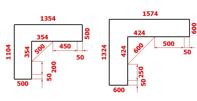 Оптимальные размеры углового компьютерного стола - сделаем м.