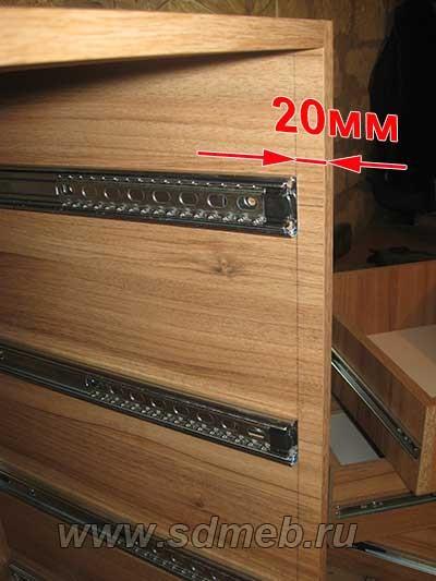 короб с внутренними выдвижными ящиками