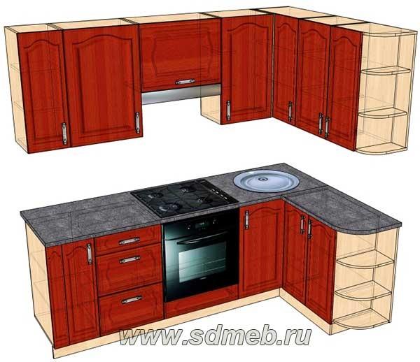 Переделать прямую кухню в угловую