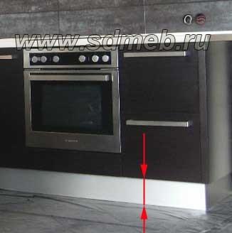 высота опор кухни