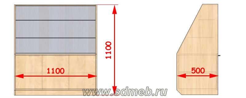 размеры витрины для магазина