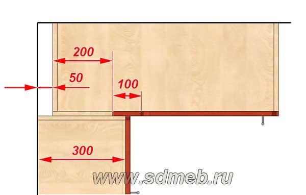 схема верхнего угла кухни
