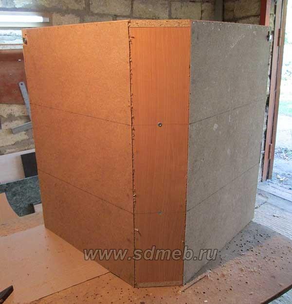задняя стенка на угловом коробе