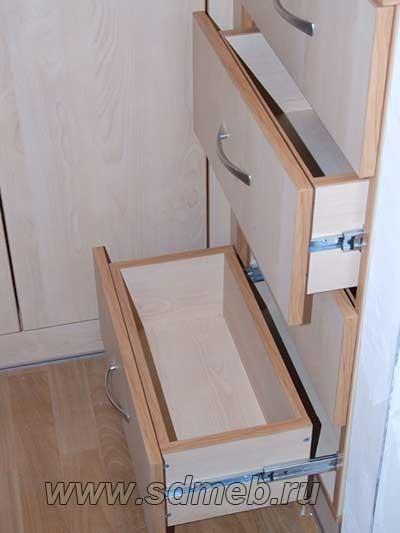 выдывижные ящики шкафа купе