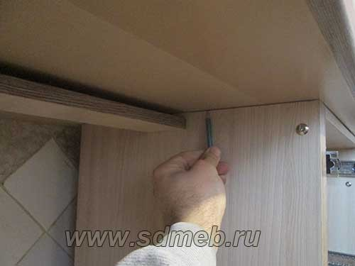 разметка короба под варочную панель
