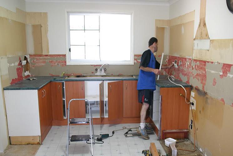 Кухонный ремонт своими руками 7